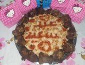 """""""إيناس"""" من الغربية تشارك صحافة المواطن بصورة طبق فتة مزين بـ""""عيد سعيد"""""""
