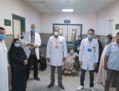 تعافى 14 مصابا بكورونا وخروجهم من مستشفى الواسطى ببنى سويف.. صور
