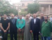 أحمد دياب في زيارة لأبو النمرس:أهالى الجيزة سيضربون أروع الأمثلة في الاقبال على التصويت