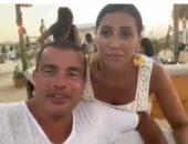 الهضبة عمرو دياب ودينا الشربيني يهنئان المستشار تركي آل الشيخ بعيد ميلاده