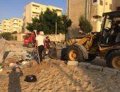 انطلاق حملة نظافة بشوارع بئر العبد فى شمال سيناء