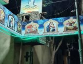 صور.. كنيسة العذراء مريم بالأقصر تتزين لاستقبال صيام السيدة العذراء الجمعة المقبل