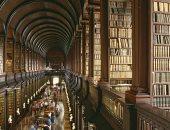 شاهد.. مكتبة على شكل بهو قصر فاخر فى جامعة بـ أيرلندا