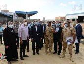 رئيس الوزراء يتفقد أعمال مشروع سوق الجملة الجديد للخضر ببرج العرب الجديدة