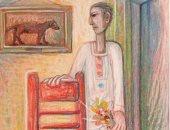 """100 لوحة مصرية .. """"وردة لأجل بلانش"""" للفنان سمير رافع"""
