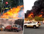 فيديو جديد يظهر لحظة انفجار قوى فى فولجوجراد بعد اندلاع حريق بمحطة وقود