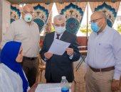 """صور.. جولة نائب رئيس جامعة طنطا لتفقد امتحانات الفرق النهائية بـ""""طب الأسنان"""""""