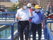 محافظ الغربية ورئيس شركة المياه يتفقدان محطة المرشح بالمحلة الكبرى