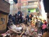 قوات الإنقاذ تستخرج 2 من أسفل أنقاض المنزل المنهار بالمحلة وتنقلهما للمستشفى