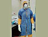 محمد أخصائى تحاليل بمستشفى بئر العبد ضمن الجيش الأبيض فى مواجهة كورونا