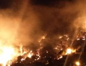 """صور للحظة اندلاع حريق ضخم فى """"جبل مشغرة"""" بالبقاع اللبنانى"""