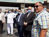 محافظ القاهرة يتفقد موقع حادث الدائرى ويوجه بسرعة إزالة أثار الحادث.. صور