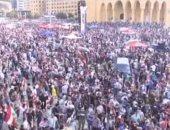 تجدد المواجهات بين المتظاهرين والأمن اللبنانى وسط العاصمة بيروت
