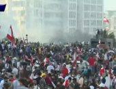 سماع دوى إطلاق نار وسط بيروت.. ومتظاهرون يلقون زجاجات حارقة على الأمن