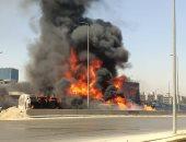 أوناش المرور ترفع حطام حادث دائرى المعادى والشرطة تضبط المتسبب فى الحادث
