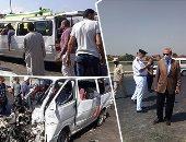 مصرع شخص وإصابة 17 آخرين بحادث تصادم سيارتين على طريق شبرا بنها الحر