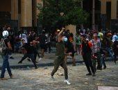 إصابات بين المتظاهرين فى لبنان جراء مواجهات مع قوات الأمن قرب مقر البرلمان.. صور
