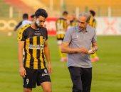 محمد سالم يشارك فى تدريبات المقاولون استعداداً لسموحة