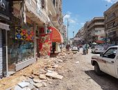 تحويل شارع إبراهيم المغازى بمدينة كفر الشيخ لاتجاه واحد وتوسعته