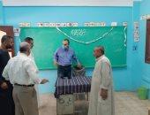 """رئيس مدينة ملوى بالمنيا يتابع جاهزية لجان انتخابات مجلس الشيوخ """"صور"""""""
