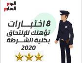 8 اختبارات تؤهلك للالتحاق بكلية الشرطة 2020 ..إنفو جراف