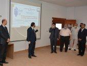 """صور .. رئيس جامعة دمياط يفتتح دورات  """"التعليم الهجين"""""""
