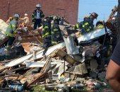 فيديو وصور.. اللحظات الأولى بعد انفجار دمر 4 منازل فى مدينة بالتيمور الأمريكية