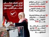 إنفو جراف.. انتخابات مجلس الشيوخ.. إزاى تعرف مكان لجنتك الانتخابية × 3 خطوات