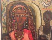 """100 لوحة مصرية .. """"امرأة من النوبة"""" للفنانة جاذبية سرى"""