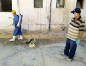 تنفيذ حملات تعقيم وتطهير لأحياء ومواقع بمدينة العريش ضد كورونا والقوارض