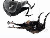 كاريكاتير صحيفة سعودية.. سقوط حكومة حسان دياب بلبنان