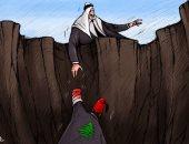كاريكاتير إماراتى: العرب يمدون يد العون للشعب اللبنانى