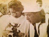 صورة من 27 سنة.. كاملة أبو ذكرى فى ذكرى رحيل نور الشريف: وحشتنا أوى