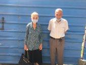 معمر 88 سنة وزوجته 83: المشاركة فى الانتخابات واجب وطنى وحق البلد علينا..صور