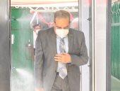 وزير الدولة للإنتاج الحربى يدلى بصوته بانتخابات مجلس الشيوخ بمدينة نصر