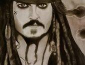 قارئ يشارك برسومات فنية للمشاهير.. بالفحم والرصاص