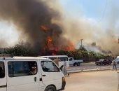 الحماية المدنية تسيطر على حريق بميدان الرماية فى الهرم.. فيديو وصور