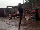 راقص باليه نيجيرى يحصل على منحة بأمريكا بعد تداول لقطات لرقصه فى المطر