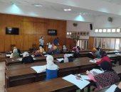 تربية نوعية جامعة المنوفية تستقبل 120 طالبا باختبارات القدرات.. صور