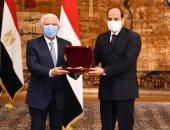 السيسي يشهد حلف عبد الله مصطفى شوضه اليمين رئيسا لمحكمة النقض