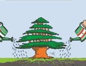 كاريكاتير صحيفة إماراتية.. إعادة إعمار لبنان