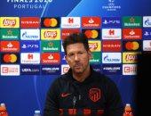 أتليتكو مدريد ضد تشيلسي .. سيميونى: قادرون على تحقيق نتيجة إيجايبة فى الإياب