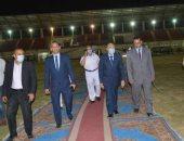 محافظ المنيا يتفقد مقر اللجنة العامة للانتخابات بالمنيا