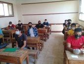 طلاب الدبلومات الفنية يؤدون امتحان الدور الثانى وسط إجراءات الحماية من كورونا