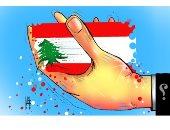كاريكاتير صيحفة إماراتية ..يد المجهول تسيطر على سفينة لبنان الجريح
