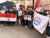 صور.. قيادات جامعة مصر تشارك بموظفيها في انتخابات مجلس الشيوخ