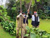 """أميتاب باتشان يحتفل بعيد ميلاد والدته بزراعة شجرة """"جولموهار"""" بمحيط منزله"""