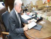 محافظ جنوب سيناء يعتمد توقيعه إلكترونيا للحد من استخدام النظام الورقى