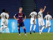 يا حسرة الكتالونيين.. برشلونة يستقبل 4 أهداف بشوط لأول مرة فى تاريخ دورى الأبطال