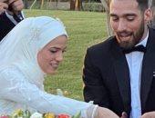 صور..هداية ملاك بطلة التايكوندو تحتفل بزفافها